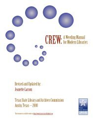 CREW: A Weeding Manual for Modern Libraries - Texas State ...