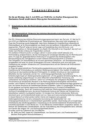 Tagesordnung der öffentlichen Gemeinderatssitzung vom 5.7.2010 ...