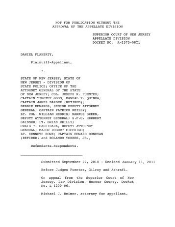 Flaherty v. New Jersey - Appellate Law NJ Blog