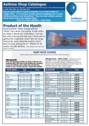 Product of the Month Asthma Shop Catalogue