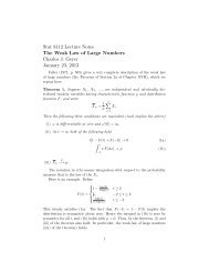 Stat 8112 Lecture Notes The Weak Law of Large Numbers Charles J ...