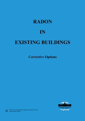 Radon in Existing Buildings - Corrective Options - Department of ...