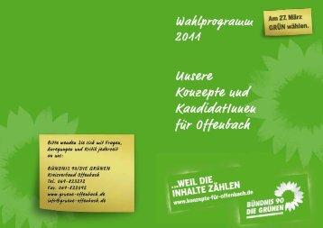 Unsere Konzepte und KandidatInnen für Offenbach