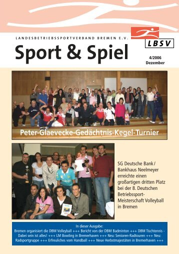 Peter-Glaevecke-Gedächtnis-Kegel-Turnier - LBSV Bremen