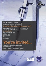 You're invited... - Maritime Law Association of Australia and New ...