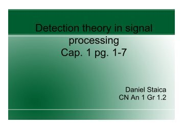 Detection theory in signal processing Cap. 1 pg. 1-7
