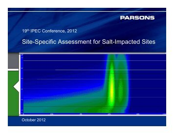 Site-Specific Assessment for Salt-Impacted Sites - IPEC