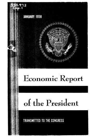 Economic Report of the President 1958