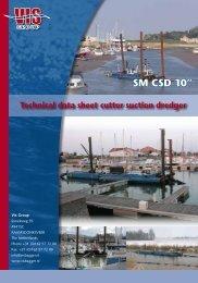 """SM CSD 10"""" Technical data sheet cutter suction dredger - Dredgepoint"""