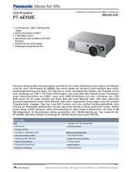 Datenblatt PT-AE900E - Kuhlmann