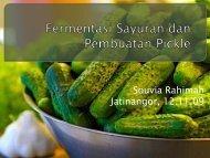 Fermentasi Sayuran dan Pembuatann Pickle - Blogs Unpad