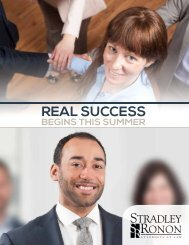 Recruiting Brochure - Stradley Ronon Stevens & Young, LLP