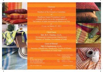 Invitation 2 copy - Handloom Export Promotion Council