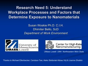 workplace Processes and Factors that Determine Exposure to ...