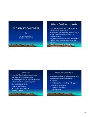Presentation - EcoSmart Concrete