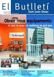 Obren nous equipaments: - Ajuntament de Sant Joan Despí