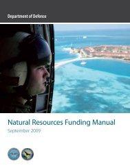Natural Resources Funding Manual - DoD Natural Resources ...
