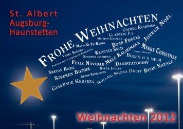 Weihnachten 2012 - Pfarrei St. Albert Augsburg-Haunstetten
