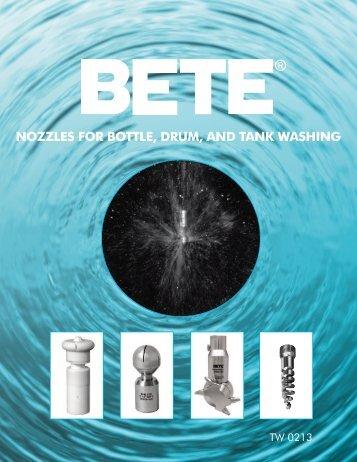 Download the Bottle, Drum & Tank Washing brochure - BETE Fog ...