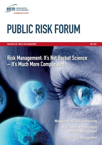 Risk Management - Public Entity Risk Institute