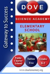 School Brochure - Dove Science Academy Elementary