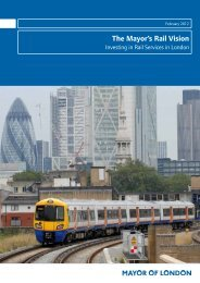 The Mayor's Rail Vision - Investing in Rail Services in London