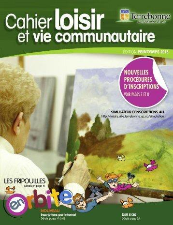 Cahier Loisir et vie communautaire - printemps 2013 - Ville de ...