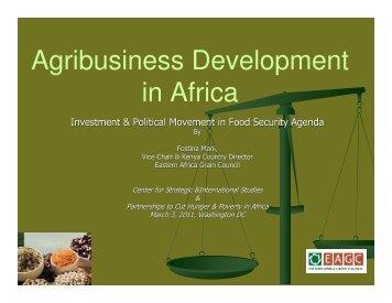 Presentation by Fostina Mani - Center for Strategic and International ...