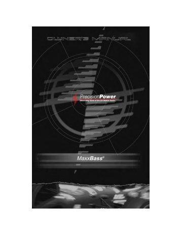 MaxxBass® - Precision Power