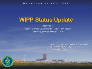 Bill Mackie, WIPP - CSG Midwest