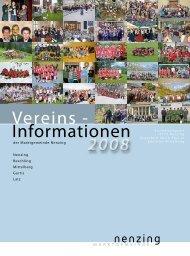 Vereinsjahresrückblick 2008 - Nenzing ist mehr - Projekt