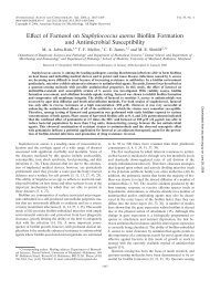 Effect of Farnesol on Staphylococcus aureus Biofilm Formation and ...