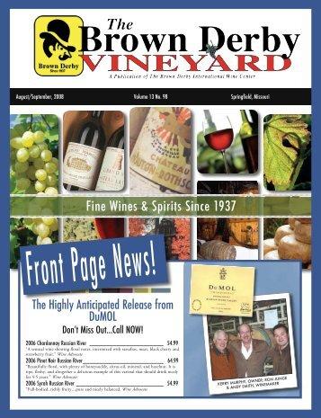 Fine Wines & Spirits Since 1937 - Brown Derby International Wine ...