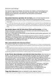 Walther von La Roche: Interview und Umfrage - Online-Journalismus
