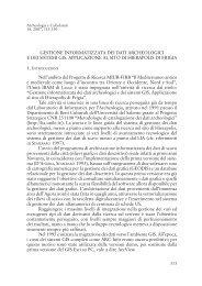GESTIONE INFORMATIZZATA DEI DATI ARCHEOLOGICI E DEI ...