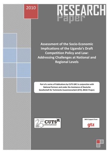 Assessment of the Socio-Economic Implications of the - CUTS ...