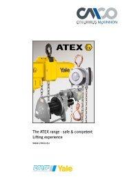 The ATEX range - safe & competent Lifting ... - Pfaff-silberblau