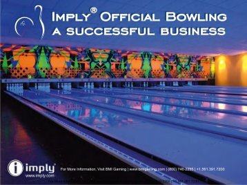 iBowling Bowling Alley Brochure - BMI Gaming