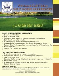 1,2,3 Day Golf Schools - Sheraton Wild Horse Pass Resort & Spa