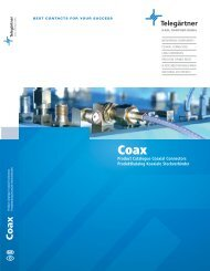 Product Catalogue Coaxial Connectors Produktkatalog ... - TRX