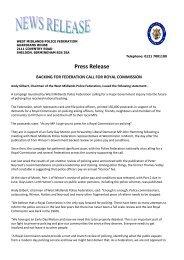 Press Release (0.32 MB) - West Midlands Police Federation