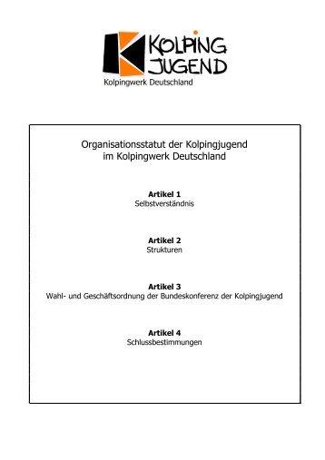 Organisationsstatut-Kolpingjugend- Juni 08
