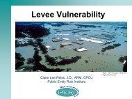 Levee Vulnerability - Public Entity Risk Institute