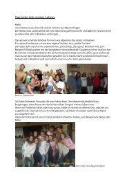 Brasilien 2010/11 - Evangelisches Gymnasium Meinerzhagen