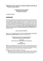 Reglamento del Uso y Control de los Vehículos Oficiales del ...