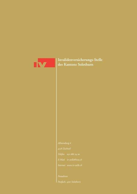 Jahresbericht 2006 - IV-Stelle des Kantons Solothurn