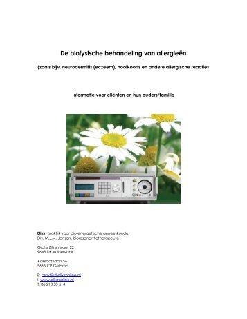 De biofysische behandeling van allergieën