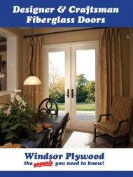 Our Craftsman Collection Fiberglass Doors - Windsor Plywood