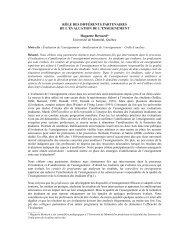 RÔLE DES DIFFÉRENTS PARTENAIRES DE L ... - admee 2012