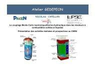 Couplage Monte Carlo neutronique - gedepeon